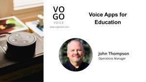 Webinar on Voice Apps for Education