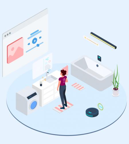 Smart Echo Isometric Illustration - T2